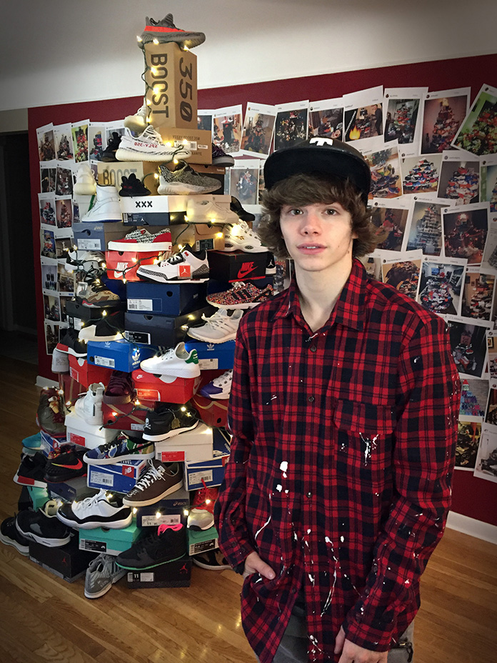 Connor Tv S Sneaker Christmas Tree Challenge Sbd