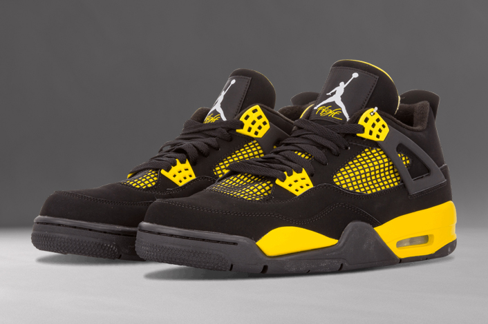 best authentic 69d34 dd90f The Air Jordan 4 Thunder debuted on December ...