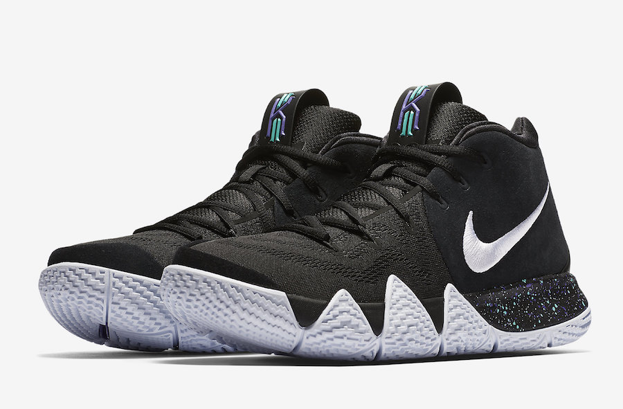 Nike Kyrie 4 Black White 943806-002 Release Date