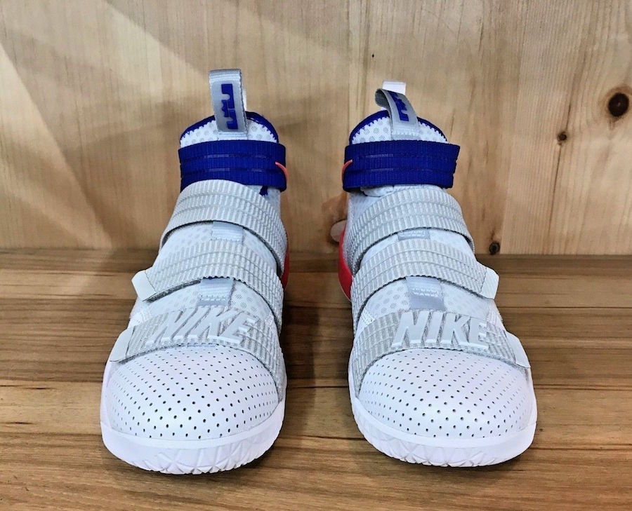 Nike LeBron Soldier 11 White Racer Blue Infrared 897646-101