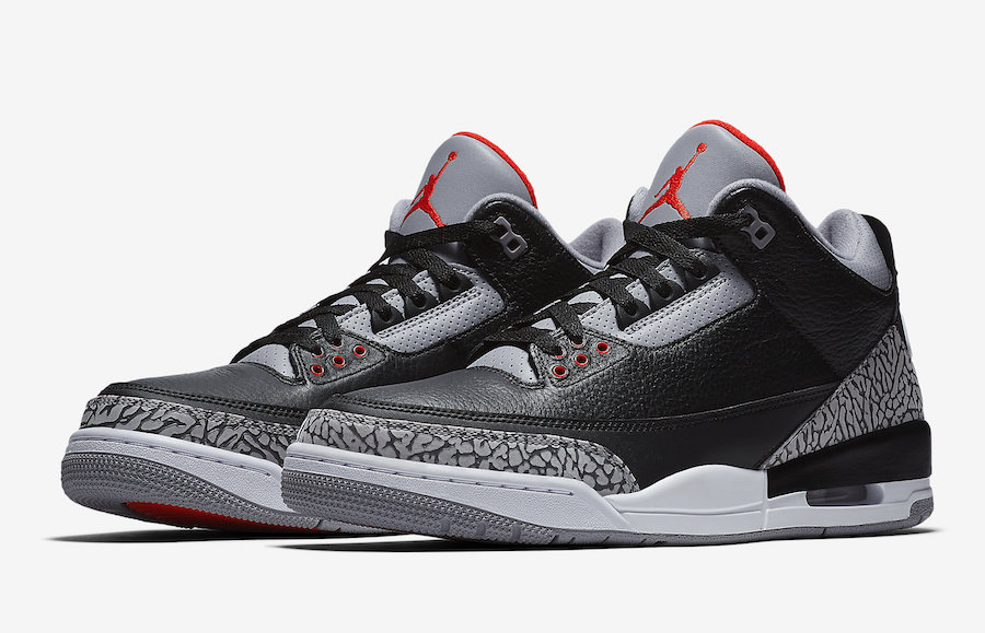 Nike Air Jordan 3 Black Cement 2018 Retro 854262-001 Release Date Pricing