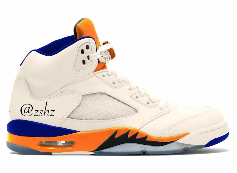 pretty nice b1451 91ef1 Air Jordan 5. Color SailOrange Peel-Black-Hyper Royal Style ...