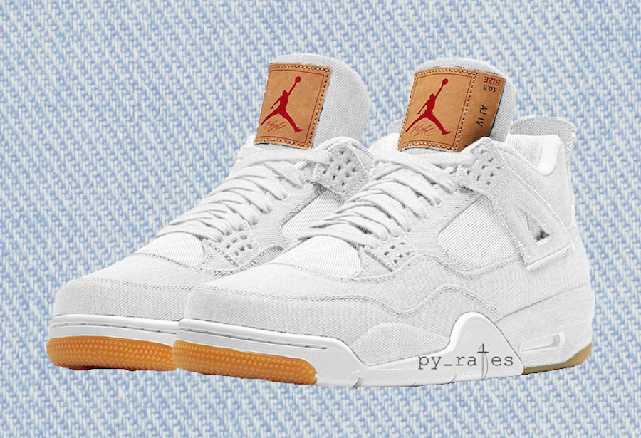 Levi's Air Jordan 4 White Denim AO2571-100
