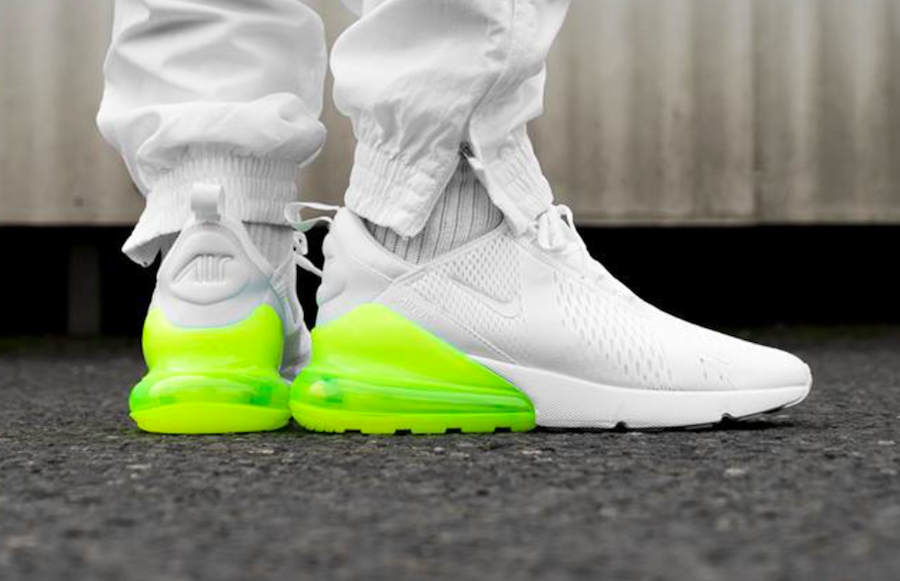 the best attitude 0a669 a2e52 Nike Air Max 270 White Volt Release Date