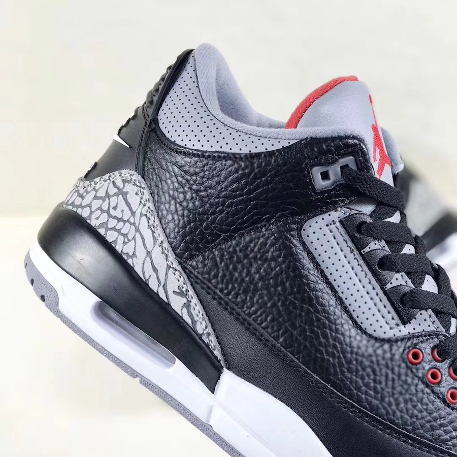 purchase cheap 09c98 75e76 Air Jordan 3 OG Black Cement 2018 Release Date - Sneaker Bar ...