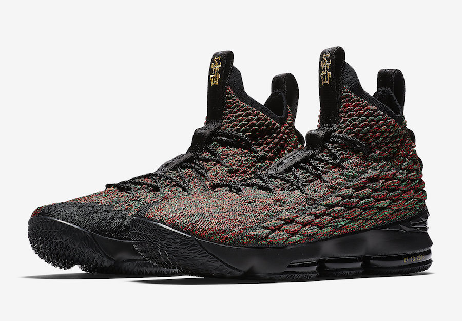 competitive price 782dc 60e3d Nike LeBron 15 BHM Black History Month AA3857-900 - Sneaker ...