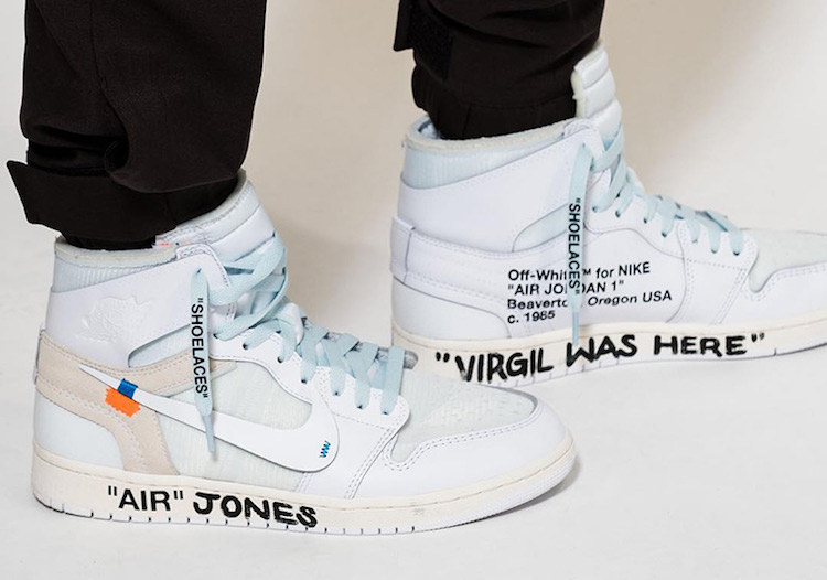 Off-White Air Jordan 1 White AQ0818-100 2018 On-Foot