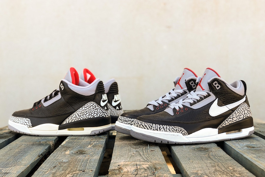 Air Jordan 3 Tinker Black Cement Sample