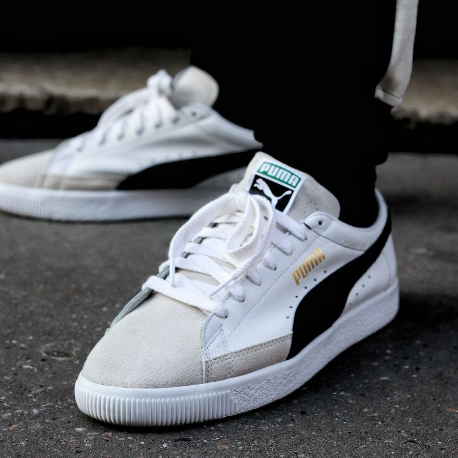 PUMA Basket White Black
