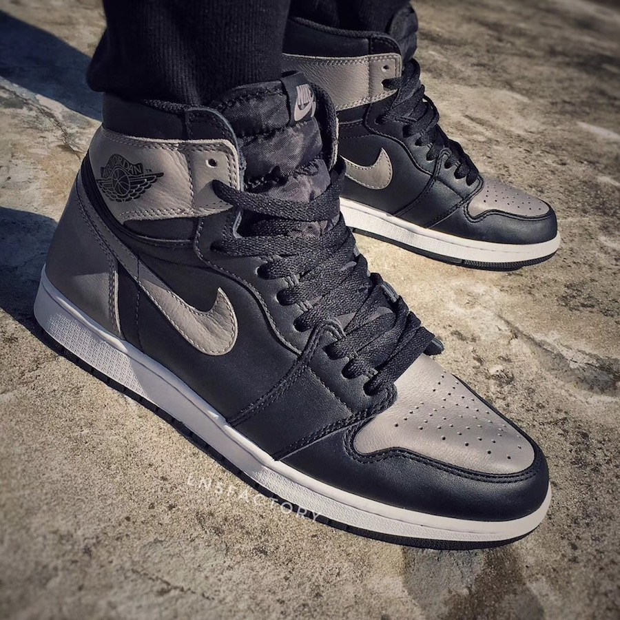 34cca9c799c8 Air Jordan 1 Shadow Grey Black 2018 Release Date - Sneaker Bar Detroit