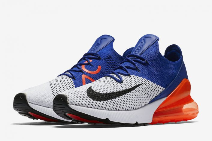 Nike Air Max 270 Flyknit Racer Blue Total Crimson AO1023-101