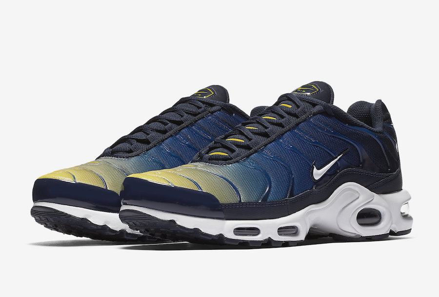 16aae17b6428 Nike Air Max Plus Blue Yellow 852630-407 - Sneaker Bar Detroit