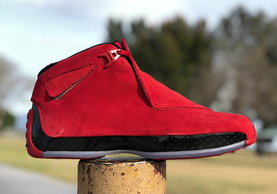 Air Jordan 18 Red Suede Toro