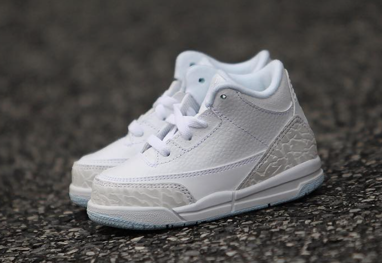 Air Jordan 3 Pure Triple White Kids
