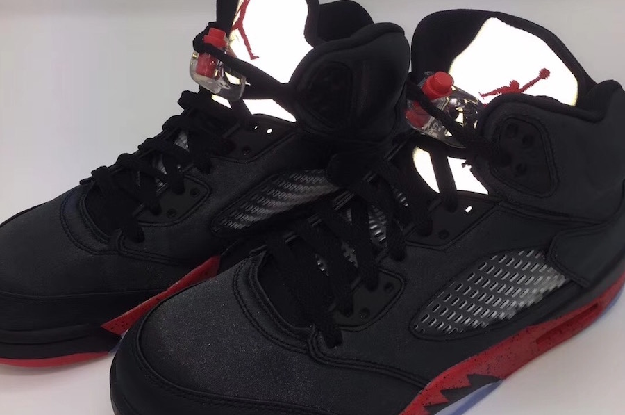 f4beb4030337 Air Jordan 5 Bred Black University Red 136027-006 - Sneaker Bar Detroit