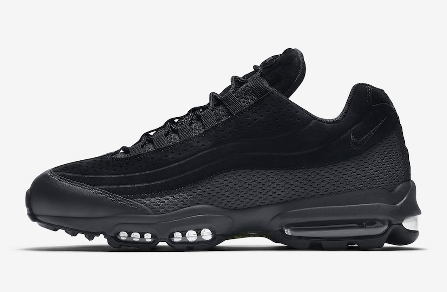 Nike Air Max 95 Ultra Premium BR Triple Black AO2438-002