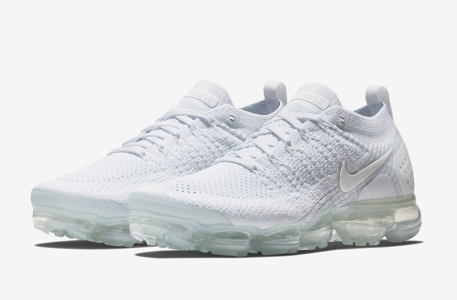 Nike Air VaporMax Flyknit 2 White Pure Platinum 942842-100 Release Date
