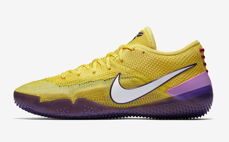 Nike Kobe AD NXT 360 Yellow Strike Lakers AQ1087-700
