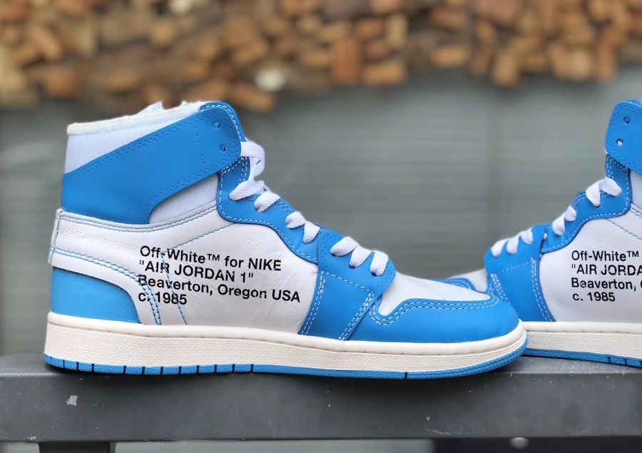 Off-White Air Jordan 1 UNC Powder Blue AQ0818-148 - Sneaker Bar Detroit f28857233