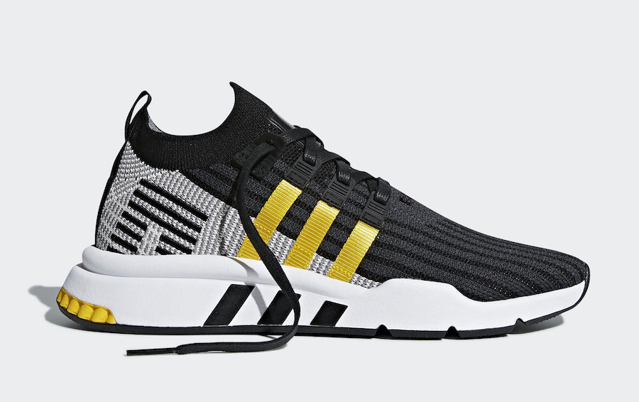 super popular 840d1 936d7 adidas EQT Cushion ADV Mid Black Yellow Stripes CQ2999 Release Date