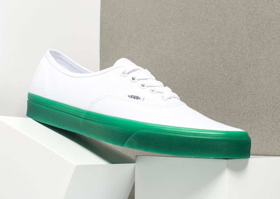 Vans Authentic Green Sole