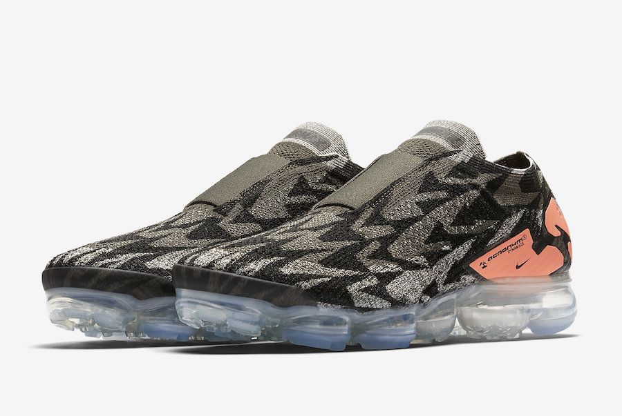 finest selection 7a413 6cced Acronym Nike Air VaporMax Moc 2 Dark Stucco AQ0996-102 Release Date