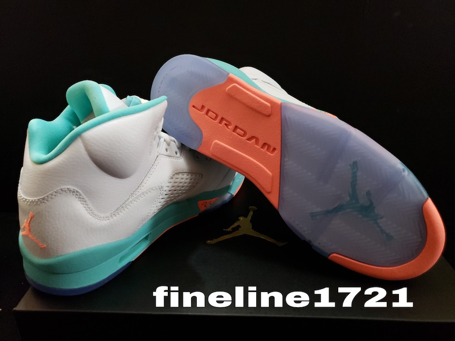 new product 48d02 ae828 Air Jordan 5 Light Aqua Release Date - Sneaker Bar Detroit