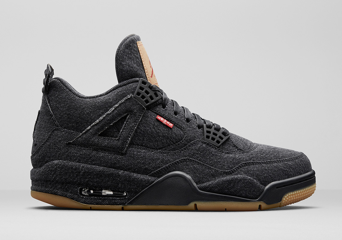 Levis Air Jordan 4 Black Denim AO2571-001 Release Date
