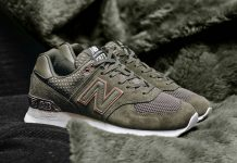New Balance W574 Military Green Rose