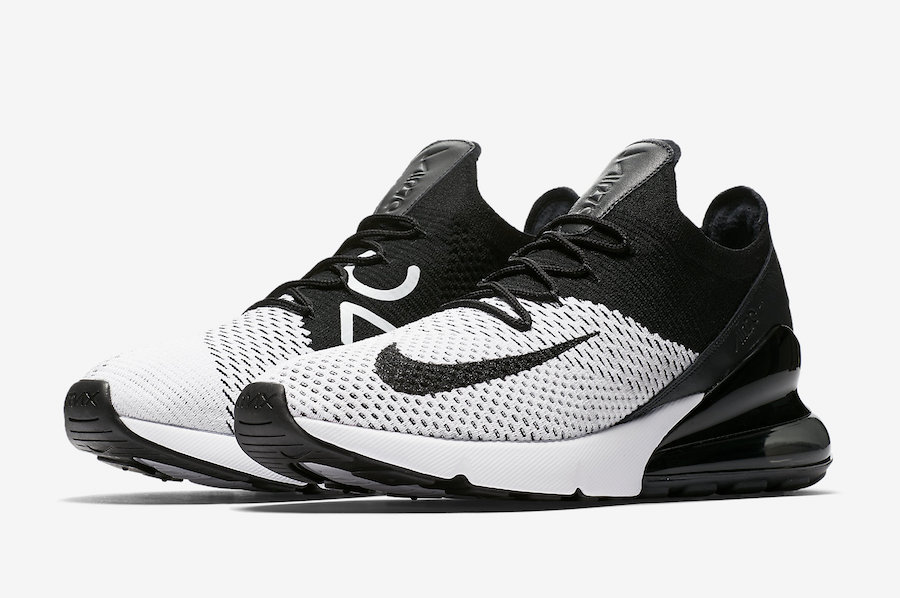 f51590527685 Nike Air Max 270 Flyknit White Black AO1023-100 - Sneaker Bar Detroit