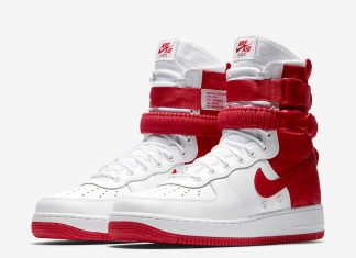 Nike SF-AF1 High White University Red AR1955-100
