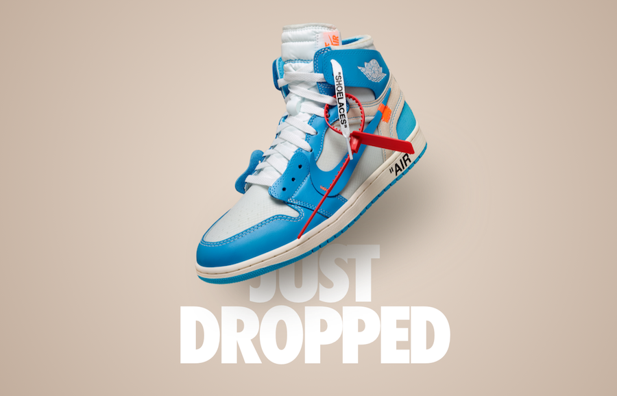 1df00d0a2e82d8 UNC Off-White Air Jordan 1 Release Date - Sneaker Bar Detroit