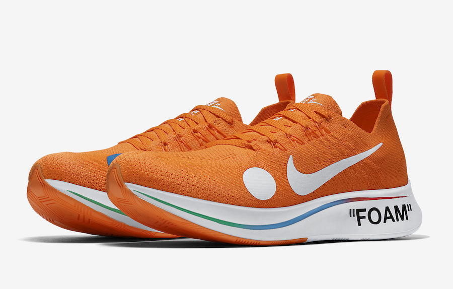 Off-White Nike Zoom Fly Mercurial Orange AO2115-800 Release Date
