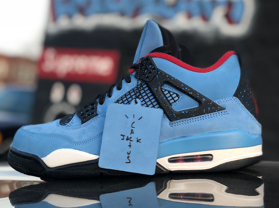 be2085ab1f97a1 Travis Scott Air Jordan 4 Houston Oilers 308497-406 - Sneaker Bar ...