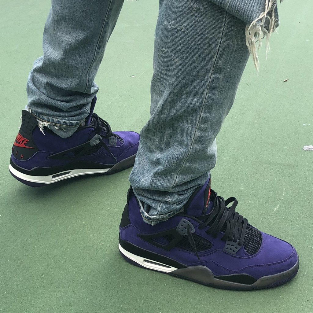 Travis Scott Air Jordan 4 Purple Red Nike Air