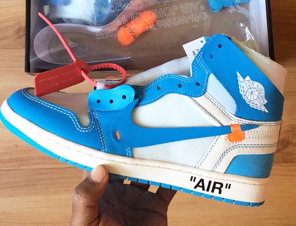 6f7698d6c602 Off-White Air Jordan 1 UNC Powder Blue AQ0818-148 - Sneaker Bar Detroit