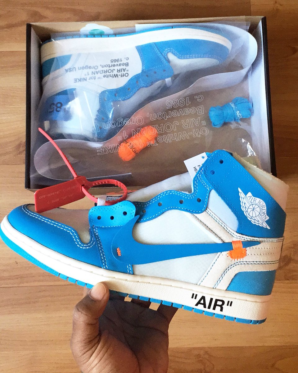 Detroit Unc Powder White 1 Blue 148 Sneaker Bar Aq0818 Off Jordan Air lKcT5u13FJ