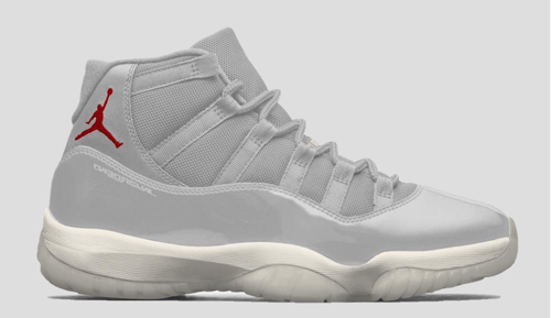 742cc89873f2a4 Air Jordan 11. Color  Platinum Tint Sail-University Red Style Code   378037-016. Release Date  October 2018. Price   220