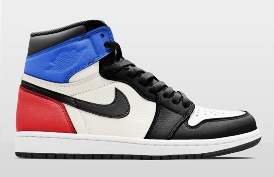 Air Jordan 1 High OG Black Sail University Blue Varsity Red 555088-015 Release Date