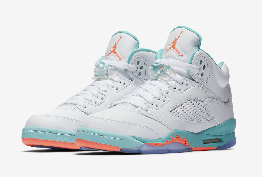 f41661298fa4 Air Jordan 5 Light Aqua Grade School 440892-100 Release Date