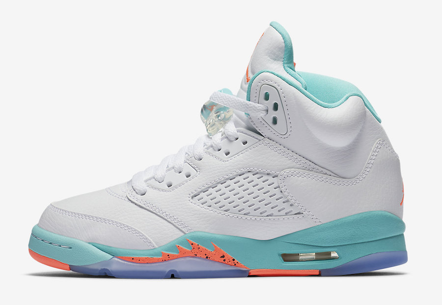 Air Jordan 5 Light Aqua Grade School 440892-100 Release Date