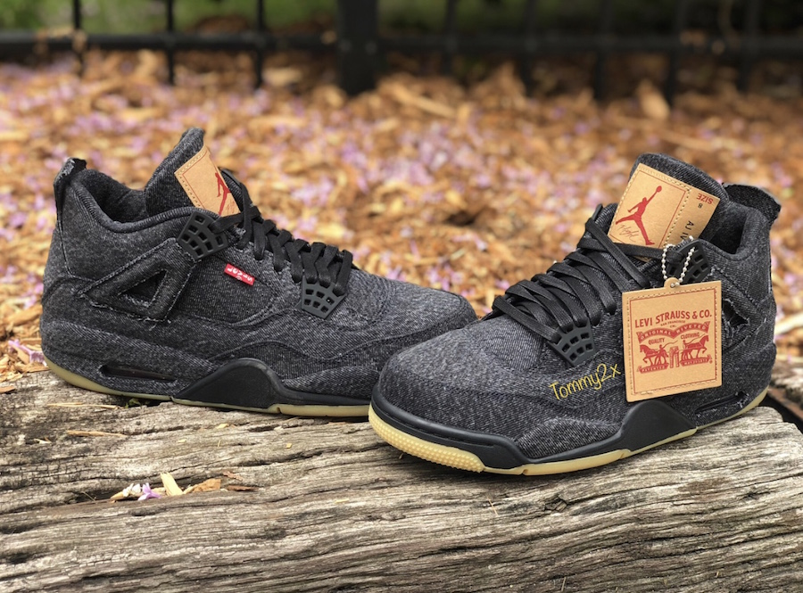 low priced 5db48 a94af Black Denim Levis Air Jordan 4 Release Date
