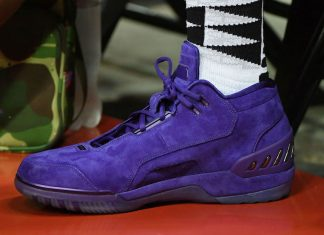 "109fa63ba31 LeBron James at Summer League Rocking the Nike Air Zoom Generation ""Purple  Suede"" PE"