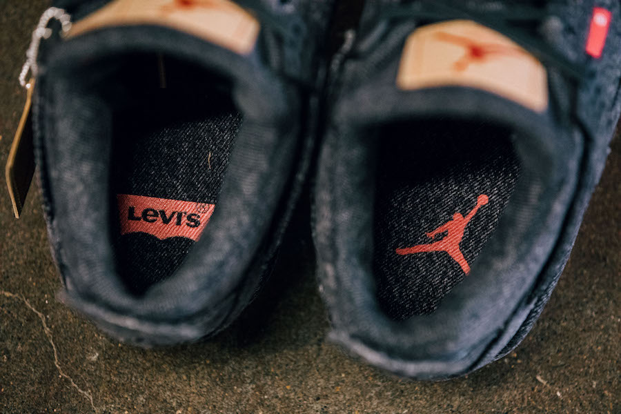 Levis Air Jordan 4 Denim Black