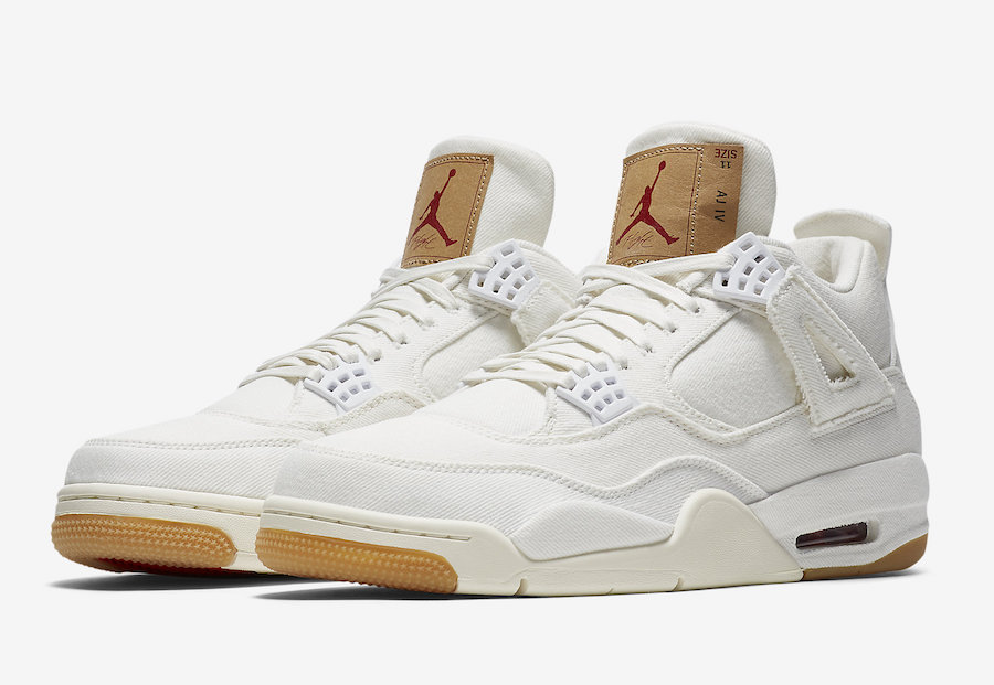 e4e7cef77d80 Levi s Air Jordan 4 White Denim AO2571-100 - Sneaker Bar Detroit