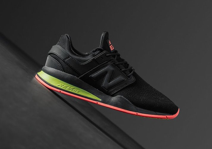 New Balance 247 Black Solar Red Green