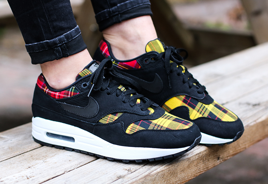 Nike Air Max 1 Plaid Red Yellow Release Date Sneaker Bar