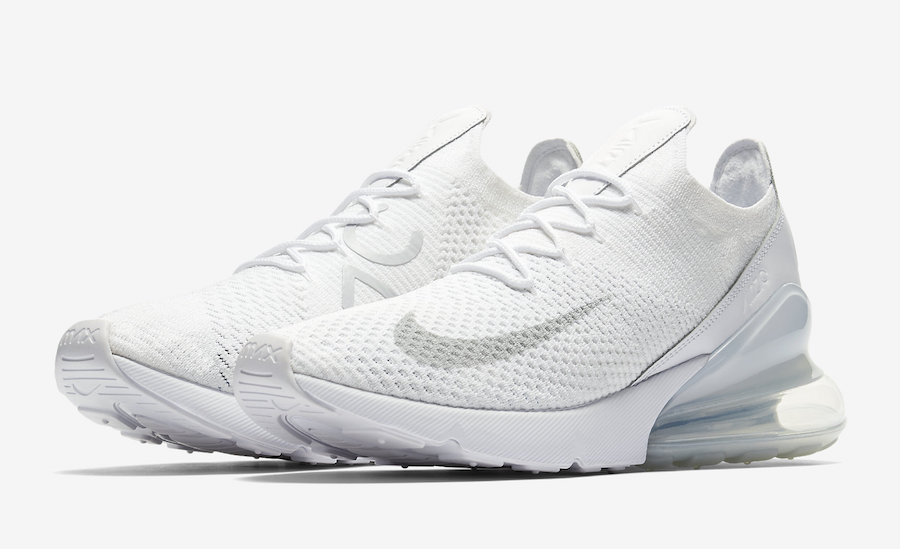 new style 2109b 7cb60 Nike Air Max 270 Flyknit White AO1023-102 Release Date ...