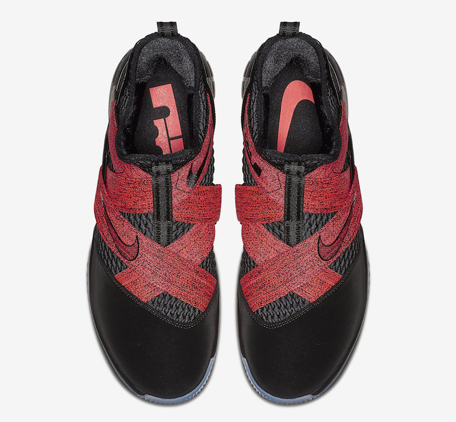 Nike LeBron Soldier 12 Black Red Straps AO2609-003 Release Date