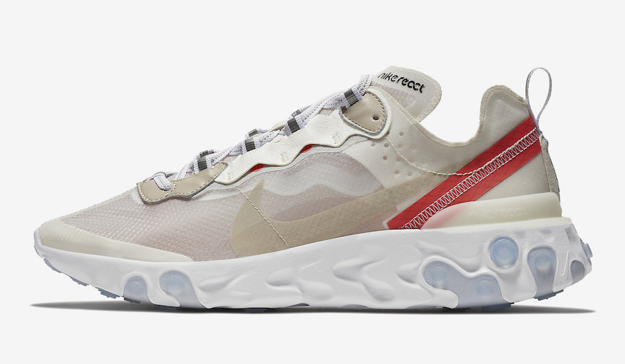 quality design b2954 ab136 Nike React Element 87 Sail Light Bone Rush Orange Black AQ1090-100 Release  Date
